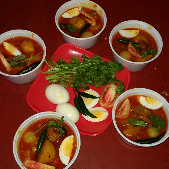 Pathar Mangso with Egg